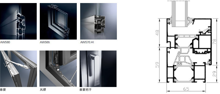 德国旭格门窗AWS铝合金窗 德国旭格产品 第1张