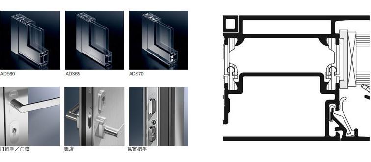 德国旭格门窗ADS铝合金门 德国旭格产品 第1张